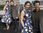 Emily Blunt In Oscar de la Renta - 'Edge of Tomorrow' London Photocall
