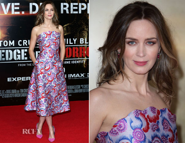 Emily Blunt In Osman - 'Edge Of Tomorrow' London Premiere