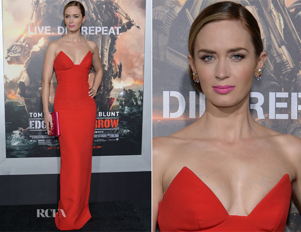Emily Blunt In Prada - 'Edge Of Tomorrow' New York Premiere