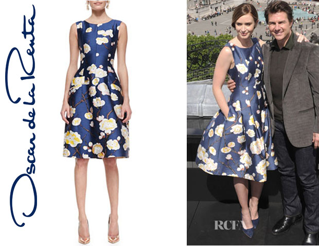 Emily Blunt's Oscar de la Renta Sleeveless Floral Dress