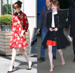Emma Stone's Chic Brock Collection & Gucci Coats