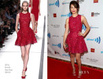Emmy Rossum In Elie Saab - 25th Annual GLAAD Media Awards