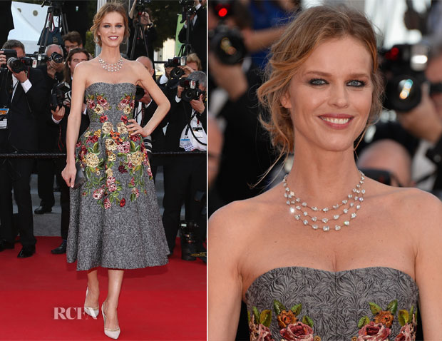 Eva Herzigova In Dolce & Gabbana  - 'Two Days, One Night'  ('Deux Jours, Une Nuit') Cannes Film Festival Premiere