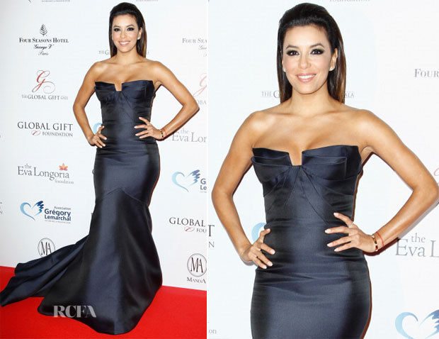 Eva Longoria In Monique Lhuillier - Global Gift Gala 2014