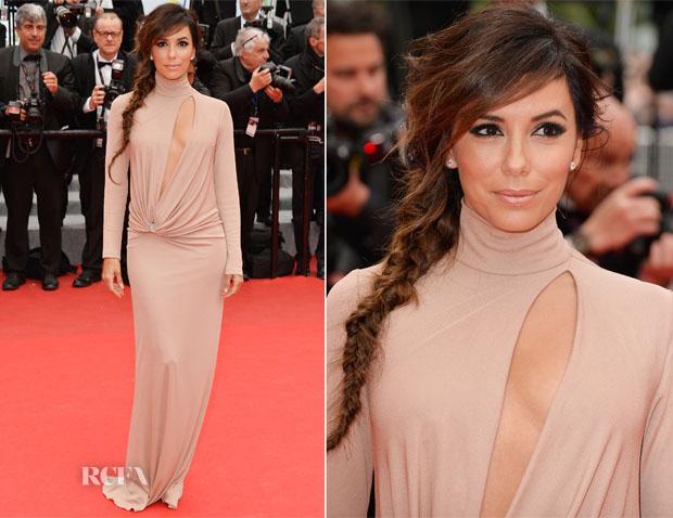 Eva Longoria In Vionnet - 'Foxcatcher' Cannes Film Festival Premiere