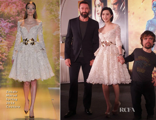 Fan Bingbing In Zuhair Murad - 'X-Men Days of Future' Past Singapore Press Conference