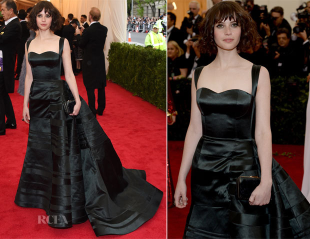 Felicity Jones In Theory by Olivier Theyskens - 2014 Met Gala