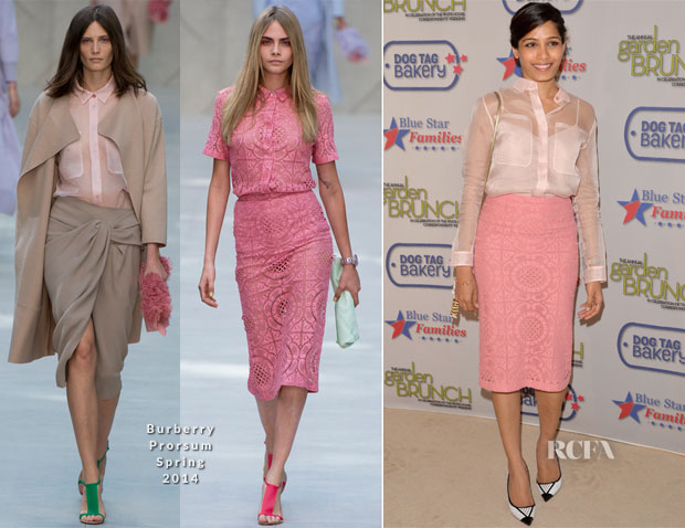 Freida Pinto In Burberry Prorsum - 2014 Annual Garden Brunch