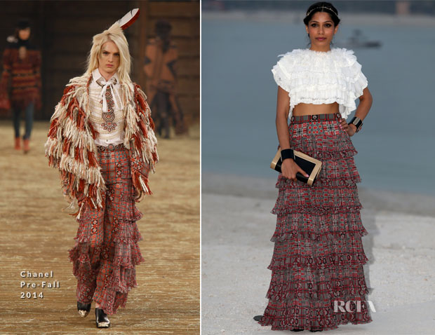 Freida Pinto In Chanel - Chanel Cruise 2015