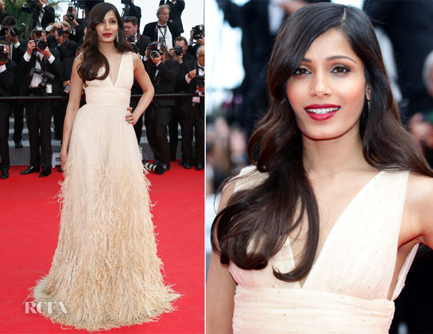 Freida Pinto In Michael Kors - 'Saint Laurent' Cannes Film Festival Premiere