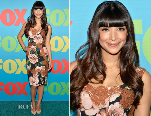 Hannah Simone In Dolce & Gabbana - FOX 2014 Programming Presentation