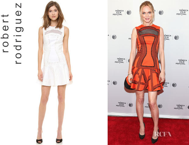 Heather Graham's Robert Rodriguez 'Kuba' Embroidered Dress