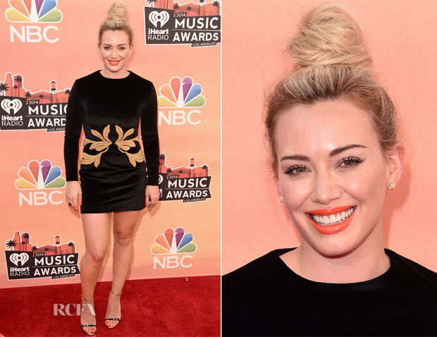 Hilary Duff In  Maria Lucia Hohan - 2014 iHeartRadio Music Awards