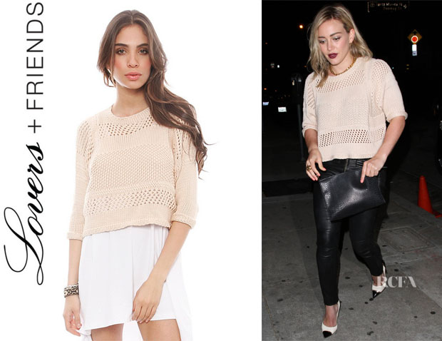 Hilary Duff's Lovers + Friends 'Ryann' Sweater