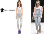 Hilary Duff's One By Black Orchid Skinny Overalls
