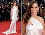 Hilary Swank In Atelier Versace - 'The Homesman' Cannes Film Festival Premiere