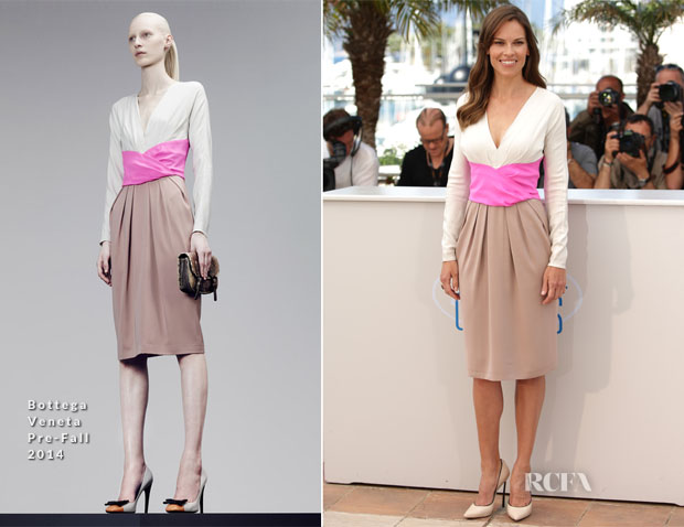 Hilary Swank In Bottega Veneta - 'The Homesman' Cannes Film Festival Photocall