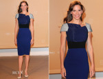 Hilary Swank In Roland Mouret - Agora Dinner
