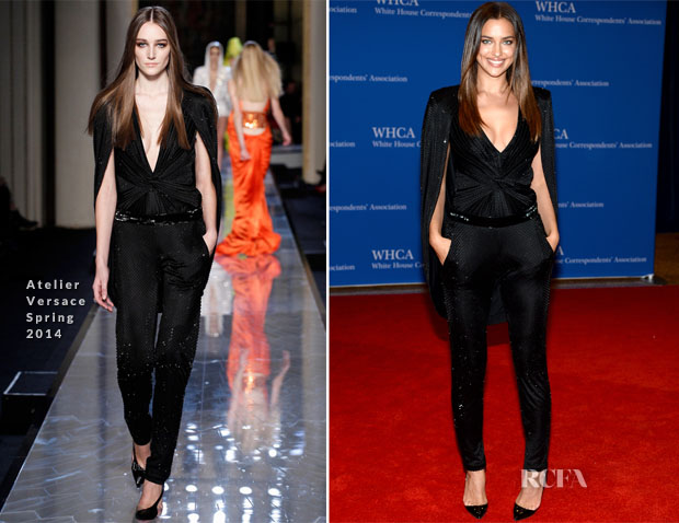 Irina Shayk In Atelier Versace - 100th Annual White House Correspondents' Association Dinner