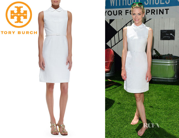 Jaime King's Tory Burch 'Kimberly' Belted Dress