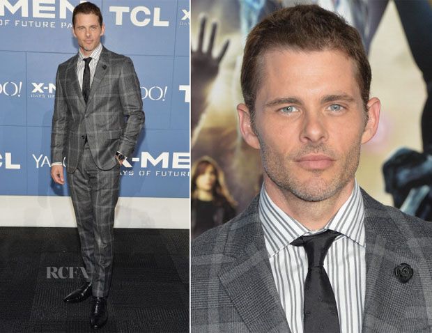 James Marsden In Kurt & Curwen by Simon Spurr - 'X-Men Days Of Future Past' World Premiere