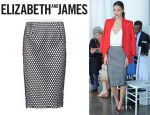 Jamie Chung's Elizabeth And James 'Heyden' Mesh-Overlay Skirt
