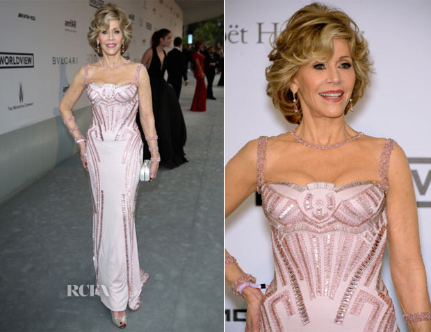 Jane Fonda In Atelier Versace - amfAR Cinema Against Aids Gala 2