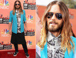 Jared Leto In Salvatore Ferragamo , Etro & Skingraft - 2014 iHeartRadio Music Awards