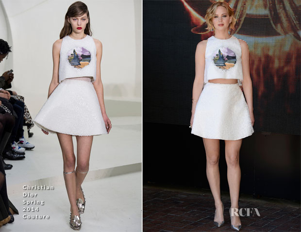 Jennifer Lawrence In Christian Dior Couture - 'The Hunger Games Mockingjay Part 1' Cannes Photocall