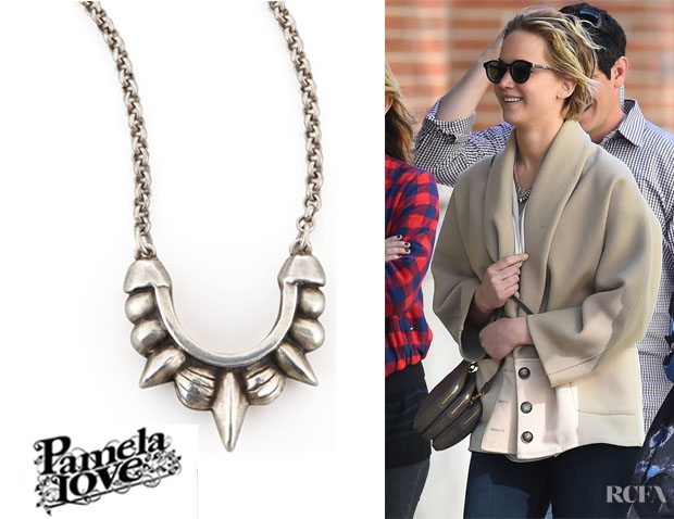 Jennifer Lawrence's Pamela Love Tribal Spike Necklace