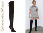 Jennifer Lopez' Gianvito Rossi Double-Zip Over-the-Knee Boots