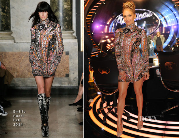 Jennifer Lopez In Emilio Pucci - 'American Idol' Season 13 Top 3 to 2 Live Performance Show