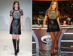 Jennifer Lopez In Gucci - 'American Idol' Season 13 Top 2 Live Performance Show