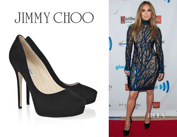 Jennifer Lopez' Jimmy Choo 'Cosmic' Suede Pumps