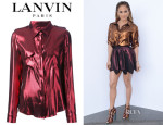 Jennifer Lopez' Lanvin Loose Fit Blouse