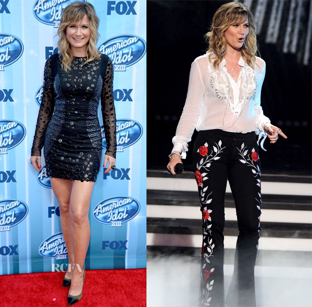 Jennifer Nettles In Phillip Armstrong - 'American Idol' Season 13 Grand Finale
