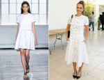 Jessica Alba In Tanya Taylor -  Hammer Museum K.A.M.P. (Kids' Art Museum Project) 2014