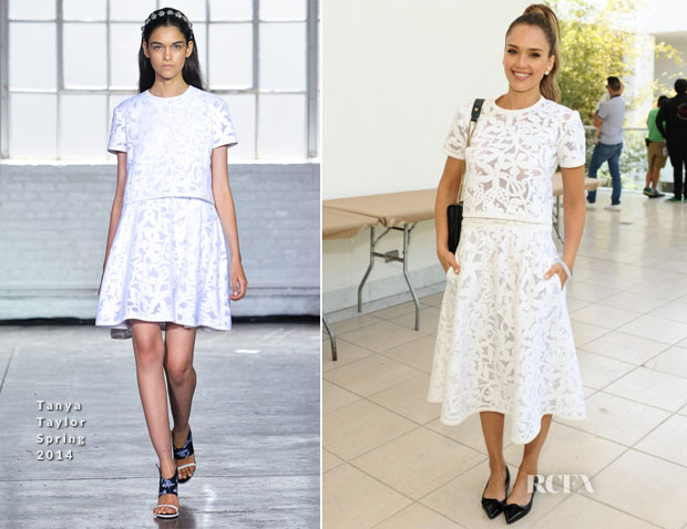 Jessica Alba In Tanya Taylor -  Hammer Museum (Kids' Art Museum Project) 2014