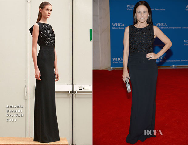 Julia Louis-Dreyfus In Antonio Berardi - 100th Annual White House Correspondents' Association Dinner