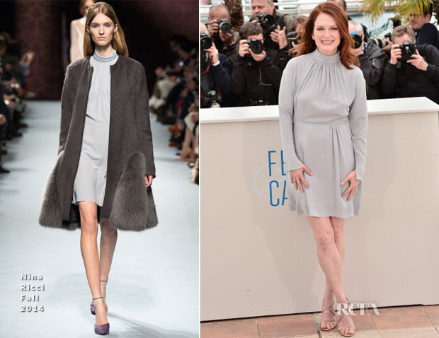 Julianne Moore In Nina Ricci - 'Maps To The Stars' Cannes Film Festival Photocall