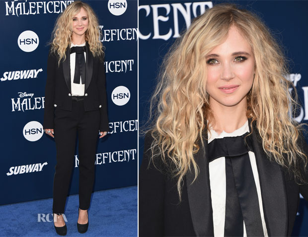 Juno Temple In Dolce & Gabbana - 'Maleficent' World Premiere