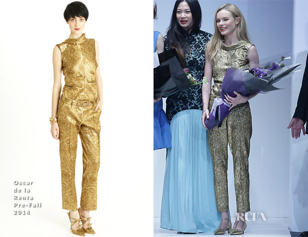 Kate Bosworth In Oscar de la Renta - Oscar de la Renta Fall 2014 Collection Singapore Event