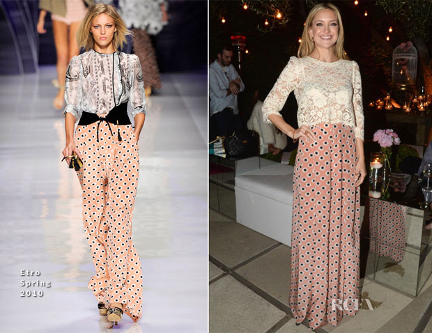 Kate Hudson In Etro & Candela - Chrome Hearts & Kate Hudson Garden Party
