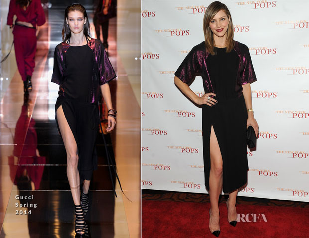 Katharine McPhee In Gucci - The New York Pops 31st Birthday Gala