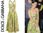 Katy Perry's Dolce & Gabbana Textured Floral Printed Dress