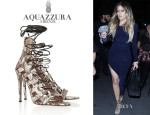Khloé Kardashian's Aquazzura 'Amazon' Elaphe Sandals