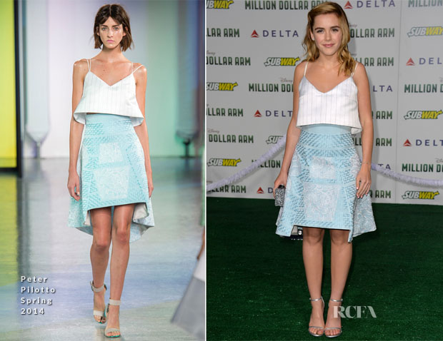 Kiernan Shipka In Peter Pilotto - 'Million Dollar Arm' LA Premiere
