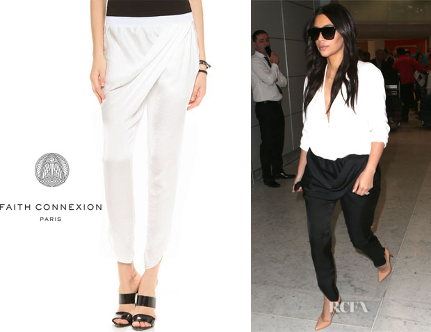 Kim Kardashian's Faith Connexion Draped Pants