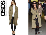 Kourtney Kardashian's ASOS Oversize Trench