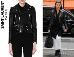Kourtney Kardashian's Saint Laurent 'Perfecto' Leather Jacket